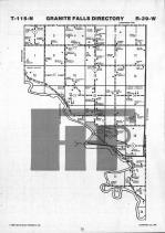 Map Image 023, Chippewa County 1986 Published by Farm and Home Publishers, LTD